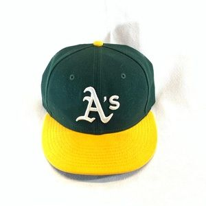 2 HATS!!! Oakland A's 59fifty